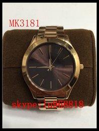 Wholesale TOP QUALITY BEST PRICE New MK3178 MK3179 MK3181 MK3197 MK3198 MK3221 Slim Runway Stainless Steel Watch