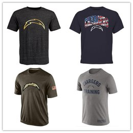 Wholesale Chargers T Shirts cheap rugby football jerseys San Diego Salute To Service Banner Wave Black Gold Collection Tshirts