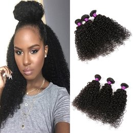 Wholesale Kinky Hair Extensions Sale - Malaysian Kinky Curly Black Hair Weave 3 Bundles Virgin Malaysian Curly Hair Extensions Bella 100 Natural Human Hair Products Sale