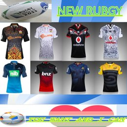 Wholesale Rugby ALL BLACK queenslHURRICANES New Nation Team Club Rugby Jerseys chief white black Men Survetment rugby Clothing