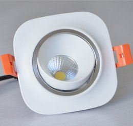 Factory wholesale COB 10W Dimmable LED Downlights White Shell Tiltable Fixture Cabinet Recessed Ceiling DownLight Lamp Warm white AC85-265V