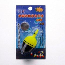 Flotteurs électroniques en Ligne-Flotteurs de pêche électroniques de la batterie 6.5cm / 25g 2pcs / set lumière flotteurs de pêche bobber nuit lumière LED flotter lueur pour la pêche lumineuse