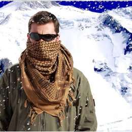 Wholesale Arab Scarves Men Winter Military Windproof Scarf Cotton thin Muslim Hijab Shemagh Tactical Desert Arabic Scarf