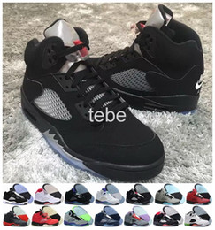 New Retro 5 OG Black Metallic Basketball Shoes Mens Sports Shoes Athletics Discount Retro 5s Sneakers High Quality Air Shoes Size 8-13