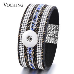 VOCHENG NOOSA Bracelet Ginger Snap Jewelry 2 Styles Shining Fabric Magnet Clasp 18mm Button NN-419