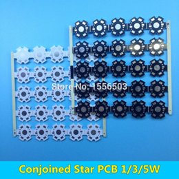 Wholesale Conjoined LED star PCB Board for W W W High Power LEDs Heatsink base mm White Black Aluminum Plate for LED Lamp DIY