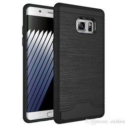 Wholesale note7 drawbench insert card phone case for samsung galaxy note7 phone case cover in for samsung note7 shockpoof pc bac