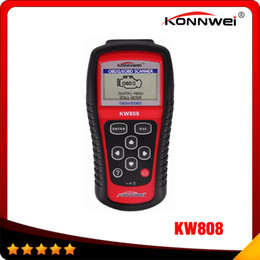 Wholesale KONNWEI KW808 OBD2 Scanner Car KW Diagnostic Code Reader CAN Engine Reset Tool Auto Scanner Coverage