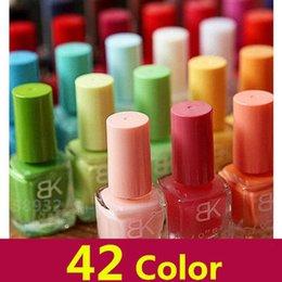 Wholesale Cheap Nail Dryers - 42 candy colors BK nail polish 8ml cheap nail polish incense 18 seconds quick-drying nail polish NZ181
