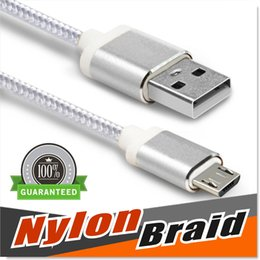 Wholesale Note Cable Micro USB Cable Type C Nylon Braided ft Cable USB A Male to Micro B Aluminum Shell Connectors for Samsung S4 S5 S6 S7
