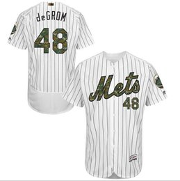 Wholesale New Arrival New York Mets Noah Syndergaard Jacob deGrom Memorial Day Cool Base Flexbase Jerseys White Camo Font Stitched