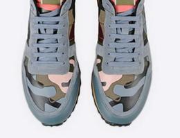 fashionville* u613 40 41 42 43 44 genuine leather blue camo beach stud sneakers shoes unisex fashion men women couple