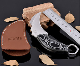 Wholesale fighting Claw Fight karambit Knife High Hardness Stainless Steel Camping Hunting Outdoor Survival Knives Supervivencia Tool
