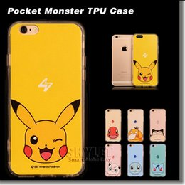Wholesale Poke Pikachu Case For Iphone Case Ultra thin Soft TPU Back Cover Case For Iphone Plus S S Plus With OPP Package