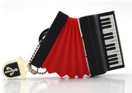 5 morceaux de PVC Mini Accordéon USB Flash Drives Brand New Accordéon comme Cartoon U Disk USB2.0 à partir de 32gb de bande dessinée fournisseurs