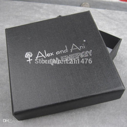 Wholesale New Black Square Alex And Ani Jewelry Gift Boxes Cardboard Boxes With Logo Printed AAB090