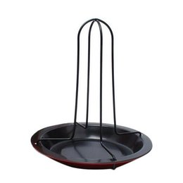 Wholesale S5Q Non stick Carbon Steel Upright Chicken Roaster Rack With Bowl Cooking BBQ Tools AAAFUM