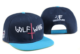 Promotion snapbacks pas cher retour 2017 Nouveau bon marché Futur Futur Futur Golf Wang Snapbacks casquettes chapeaux chapeaux chapeaux d'équipe de sport ajustés casquettes de base-ball chapeau de retour chapeaux de gros hommes femmes