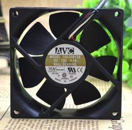 AVC F8025B12E 12V 0.1A 80*80*25MM 3 wire double ball heat sink fan
