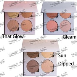 Wholesale Factory Direct DHL New Makeup Face Glow Kit Gleam That Glow Sun Dipped Colors Bronzers Highlighters Palette g
