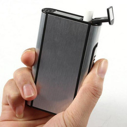 Wholesale Aluminum Pocket Cigarette Case Automatic Ejection Holder Metal Box New