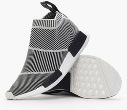 Wholesale nmd City Sock S79150 Men And Women Shoe NMD CS1 City Sock PK Core Black Vintage White Ftwr White Casual Sports Shoe Shoes Footwear