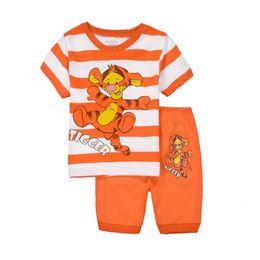 Wholesale 2016 New Hot Sale piece The Child Home Furnishing Suit Boy Cartoon Tigger Kids Clothing Baby Pajamas Set Service