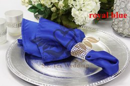 Royal Blue Color Satin Table Napkin For Weddinng Party Decoration
