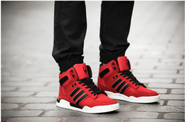 Wholesale New spring crown high help Justin bieber shoes in same merchant sandals red dance shoes skateboard male