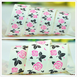 Wholesale 2016 New Summer Song Sizes quot mm quot mm Vintage Rose Grosgrain Ribbons antique white Printed Garment Handmade Y A3