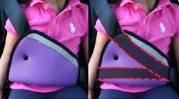 Wholesale Safety Belt Regulator For Automobile Triangle Fixing Device Preventing Child Neck Le Device Breathable Mesh Fabric Environmental Protection
