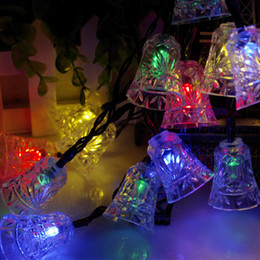 Wholesale 4 m Led Bells LED Solar String Fairy Light Puzzle Lights To Decorative Court Yard Garden House During Festival Christmas Holiday Party