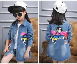 2017 New Autumn and Spring Children Clothing Child Clothes Baby Girl Outerwear Coat Girl's Jackets Denim Kids Tops Jeans Wear