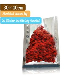 Wholesale 100 x40cm Good Barrier Aluminium Foil Food Packaging Bags with Clear Front