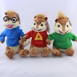 Wholesale 24cm cm Alvin and The Chipmunks Plush Toys Kawaii Chipmunks Jeanette Stuffed Animal Dolls For Children Kids Gifts Baby Toys
