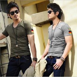 Summer New Men Short sleeve t shirt cheap t shirt men Good quality men 's tshirt 2016 Military Style V-neck slim tshirt