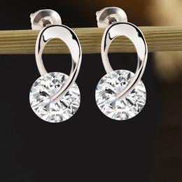Luxury Zircon Earrings Vintage Silver Plated Dangle Earrings Women Fashion Drio Earrings for Party Party African Jewelry boucle d'oreille