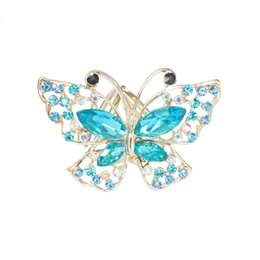 New model crystal Butterfly Rhinestone scarf buckle holder for Lady Silk scarf rings jewelry brooch wedding brooch gift