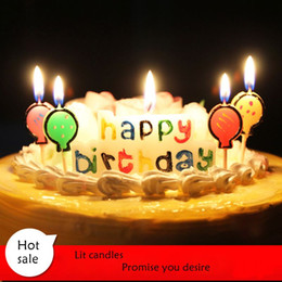 Wholesale Christmas Cakes Candles - happy birthday letter Candle For Cake Wedding Christmas Cake Decoration Party Birthday Supplies Hot Sale H059
