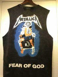 Wholesale High Quality Justin Bieber Concert T Shirts Metallica Mens Tee Shirts Black Skull Thunder Men Printed
