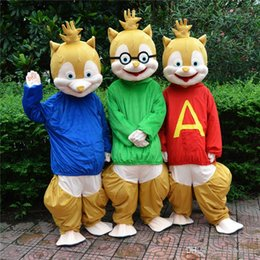 Wholesale NEW fursuit mascot for sale Alvin and the Chipmunks mascot cartoon character costume Halloween animal costumes