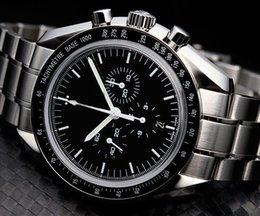 Promotion cru mens watch automatique Les montres-bracelets vintage professionnel Lune Automatique Hommes Montre homme en acier inoxydable
