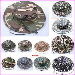 Unisex bucket hats outdoor jungle military camouflage bob camo bonnie hat fishing camping barbecue cotton mountain climbing hat