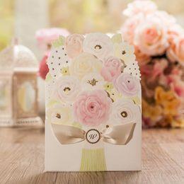 Wholesale Wedding Invitations Free Customize Inner Sheet Flower Patterns Wedding Cards Invitation Card Wedding Favors CW5139