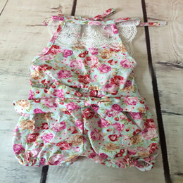 Floral Baby rompers backless lace new pattern baby jumpsuit cotton 3T baby girls clothes