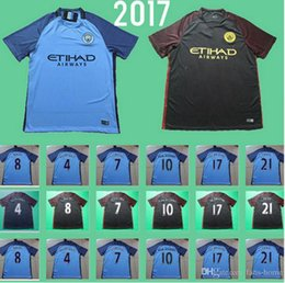 Wholesale Soccer Jersey Manchesters City Football Shirts Kun Aguero Season Home Away Maillot de foot Sterling De Bruyne Silva Toure camisas