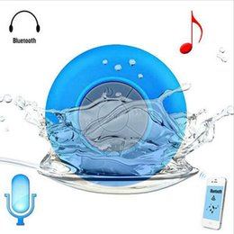 Wholesale Mini Portable Shower Waterproof Wireless Bluetooth Speakers Subwoofer Car Handsfree Call Music Suction Mic For iOS Android Phone