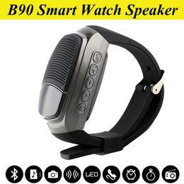 B90 Mini Protable Bluetooth Wireless Speaker B90 Watch Style Speakers Multi-function Display Screen Support TF Card VS U8 DZ09 GT08 OTH253