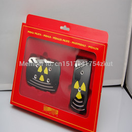 Wholesale by HongKong Post Air Mail set General Non Slip Racing Brake Foot Pedals Pad Aluminum Steel Metal Plate car cover