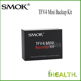 SMOK TFV4 Mini Backup Kit with Short Size Replacement Glass Tube Clapton Dual Core Silicone Sealing Pad More Compact Choice for TFV4 Mini